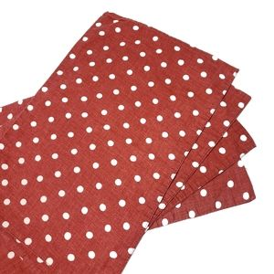 Pottery Barn Polka Dot Red & White 14x20 placemats